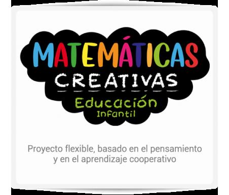 Matemáticas Creativas  MATEMÁTICAS Creativas nace con la voluntad de facilitar a la docente y al alumno las últimas herramientas, técnicas y tendencias pedagógicas en el campo de las matemáticas. Es un proyecto flexible, basado en el pensamiento y en el aprendizaje cooperativo. Para el 2º ciclo de Educación Infantil