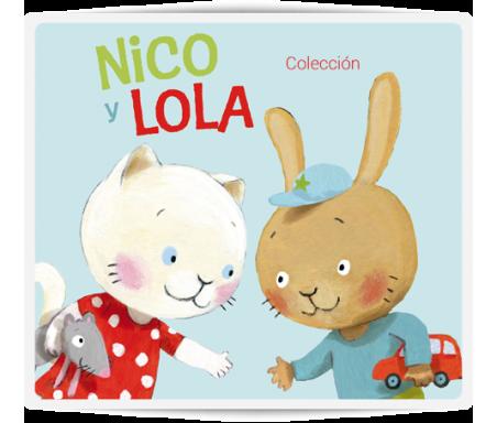 Nico y Lola  Nico y Lola tienen muchas cosas que hacer; vestirse, jugar, bañarse, irse a la cama. Para realizarlas van a necesitar muchas cosas distintas.