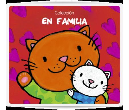 En familia  Descubre el día a día de las madres con sus crías levantado solapas. Un libro para los más pequeños con coloridas ilustraciones, letra maýuscula y esquinas redondeadas.